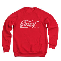 Cincy Retro Drink Men's Ultra Soft Sweatshirt