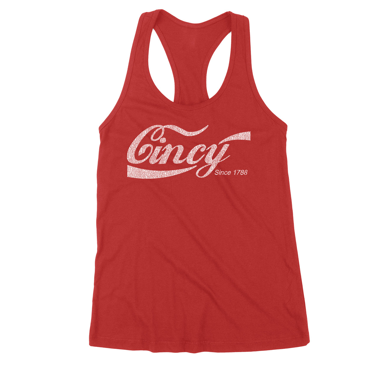 Cincy Retro Drink Women's Tank - Clothe Ohio - Soft Ohio Shirts