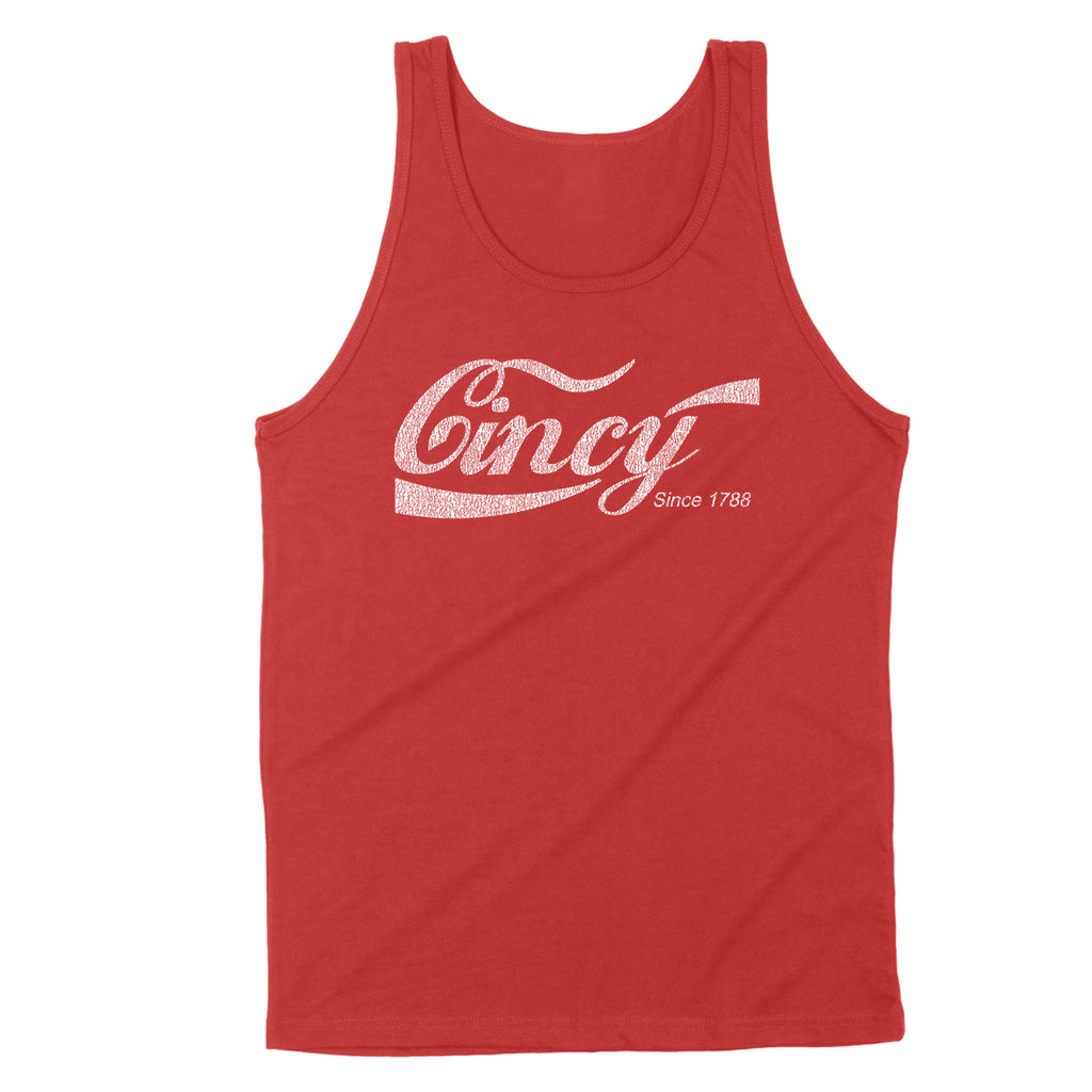 Cincy Retro Drink Men's Unisex Tank - Clothe Ohio - Soft Ohio Shirts