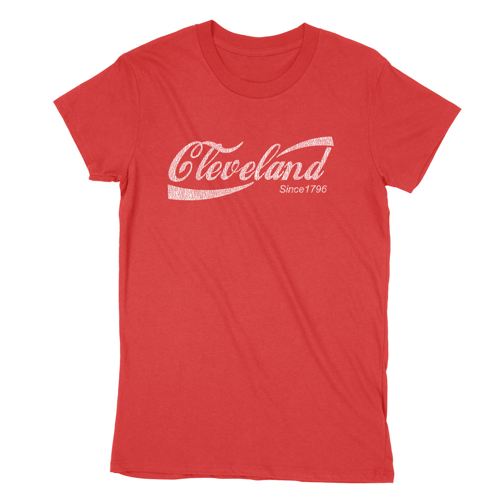 Retro Cleveland Drink Women's T-Shirt - Clothe Ohio - Soft Ohio Shirts