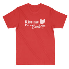 Kiss Me I'm A Buckeye Men's T-Shirt
