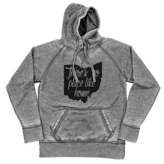 Ohio Theres No Place Like Home Shredded Hoodie