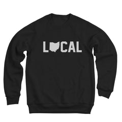 Local Ohio (White Ink) Ultra Soft Sweatshirt