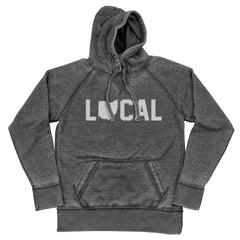 Local Ohio (White Ink) Shredded Hoodie
