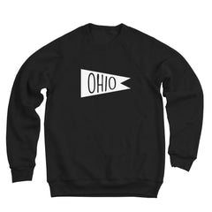 Retro Ohio White Flag Men's Ultra Soft Sweatshirt