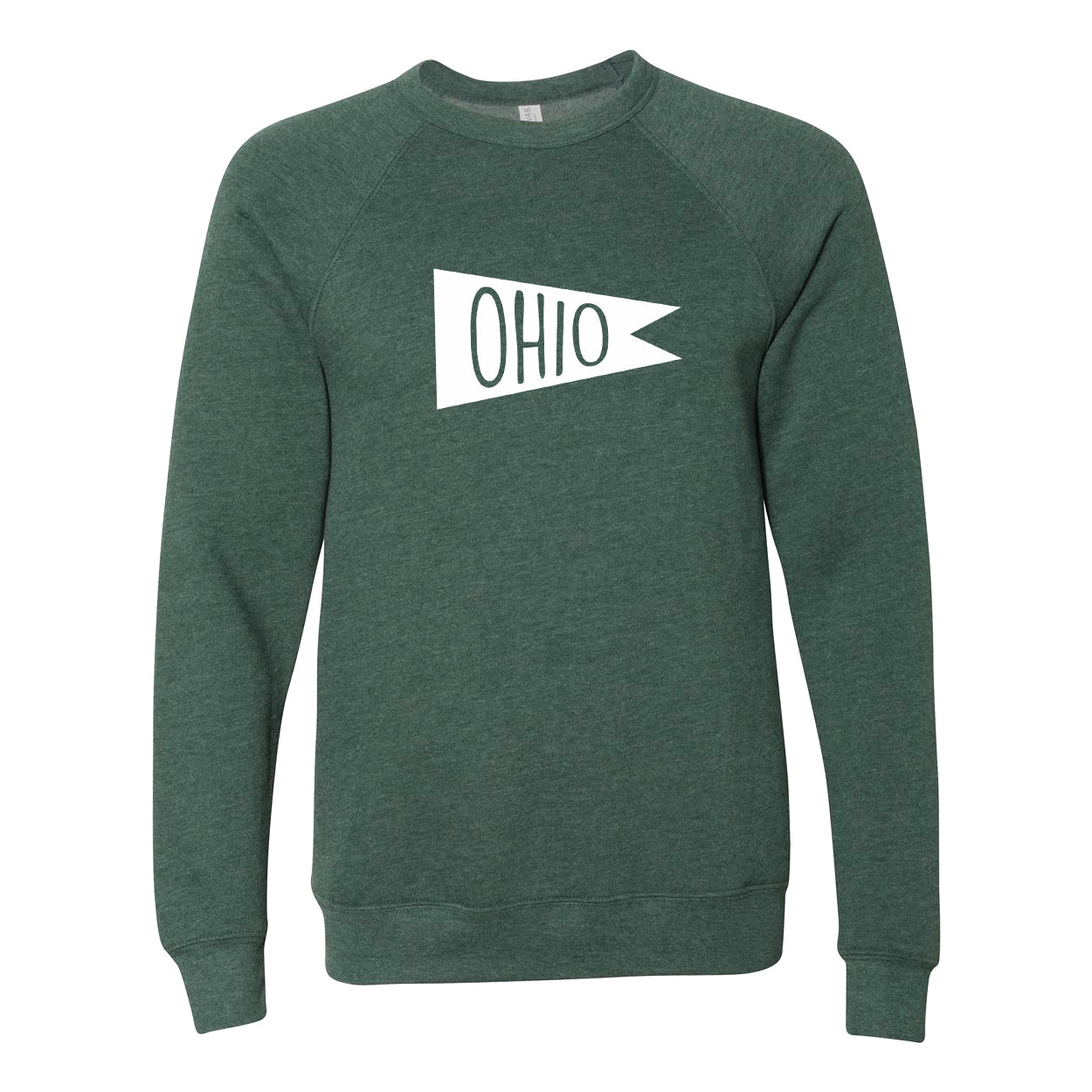 Retro Ohio white Flag Ultra Soft Sweatshirt - Clothe Ohio - Soft Ohio Shirts