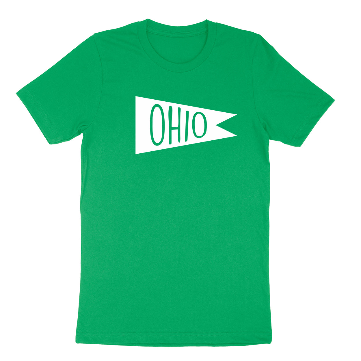 Retro Ohio white Flag Men's T-shirt - Clothe Ohio - Soft Ohio Shirts