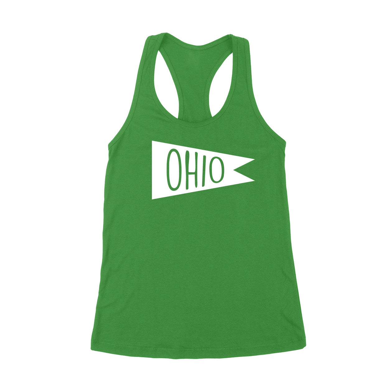 Retro Ohio white Flag Women's Tank - Clothe Ohio - Soft Ohio Shirts