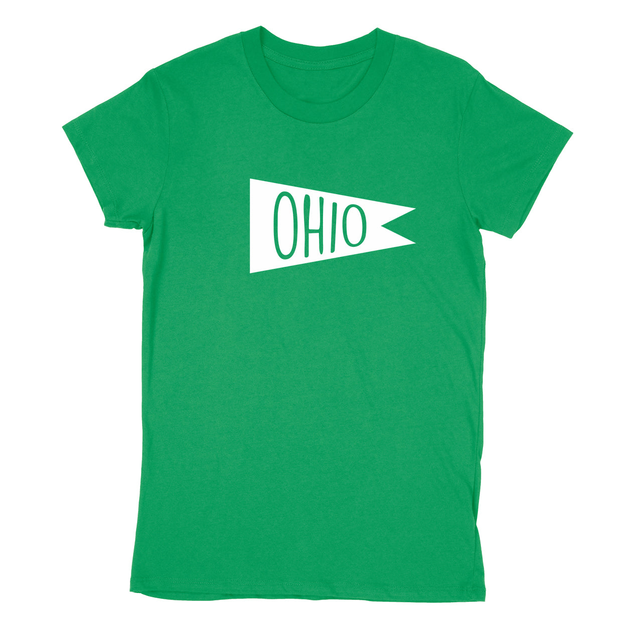 Retro Ohio white Flag Women's T-Shirt - Clothe Ohio - Soft Ohio Shirts