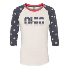Ohio Stars And Stripes Raglan T-Shirt