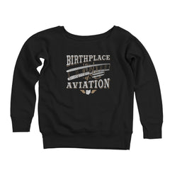The Birthplace Of Aviation Ohio Women's Off-Shoulder Sweatshirt