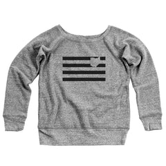 Black Lines Ohio Women's Off-Shoulder Sweatshirt