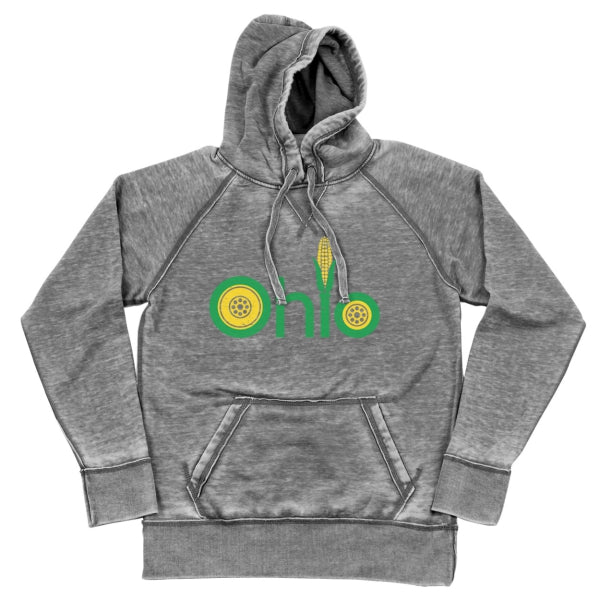 Farm Ohio Shredded Hoodie - Clothe Ohio - Soft Ohio Shirts