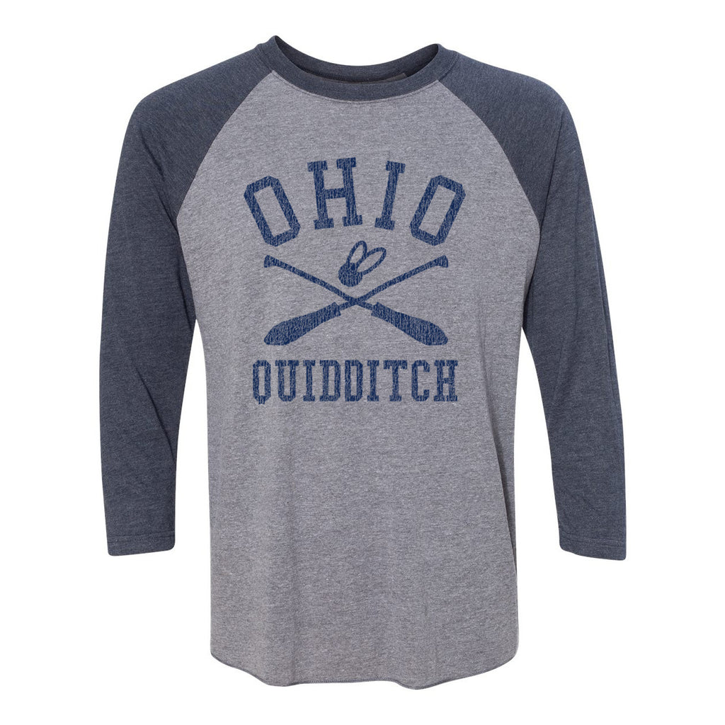 Ohio Quidditch Raglan T-Shirt - Clothe Ohio - Soft Ohio Shirts
