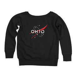 Ohio In Space Women's Off-Shoulder Sweatshirt