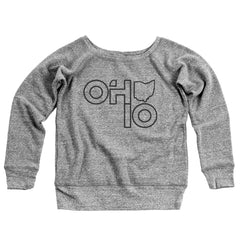 Ohio Stacked Women's Off-Shoulder Sweatshirt