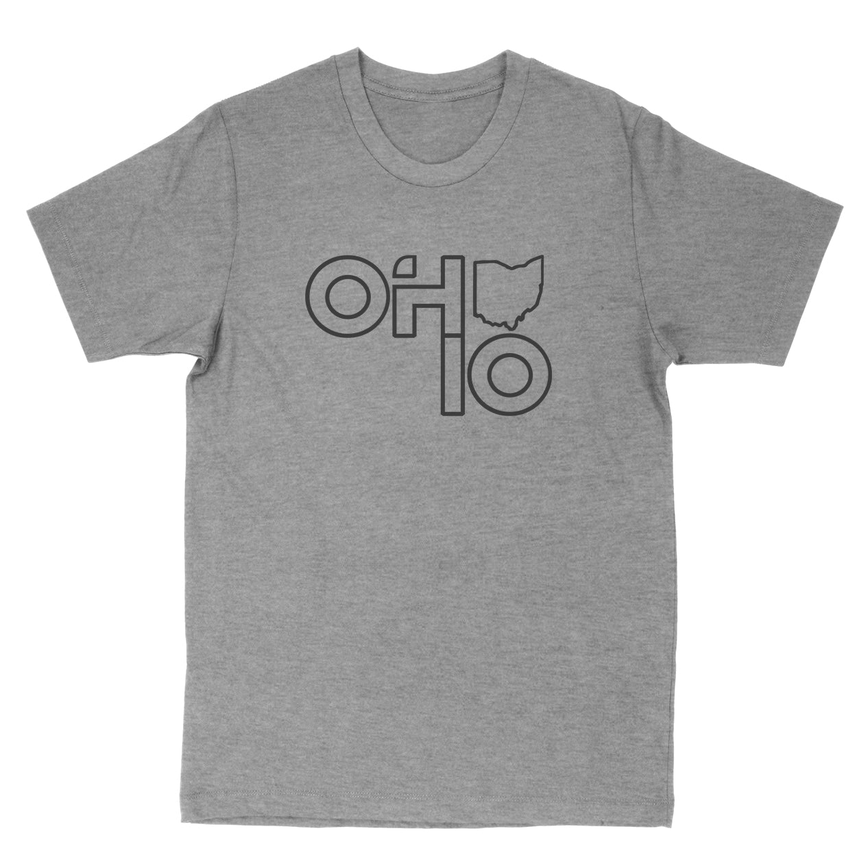 Ohio Stacked Men's T-Shirt - Clothe Ohio - Soft Ohio Shirts