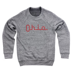 Ohio Slide Script Men's Ultra Soft Sweatshirt