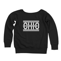 Ohio Tracks Women's Off-Shoulder Sweatshirt