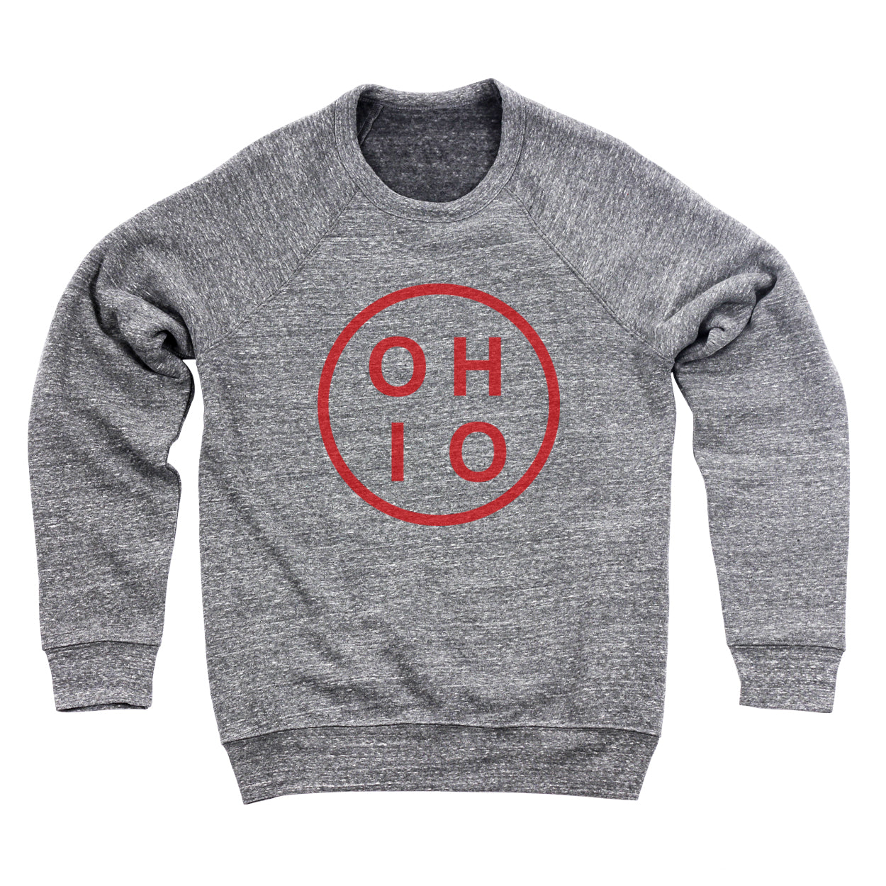 Ohio Circle Red Ultra Soft Sweatshirt - Clothe Ohio - Soft Ohio Shirts