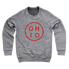 Ohio Circle Red Men's Ultra Soft Sweatshirt