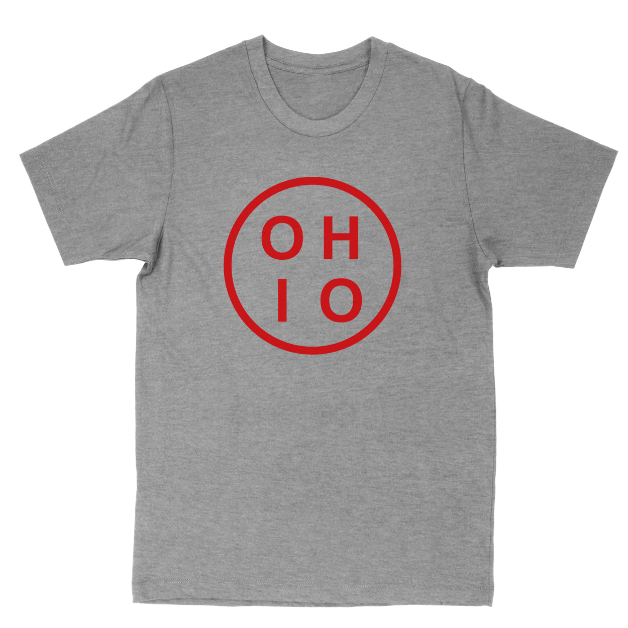 Ohio Circle Red Men's T-Shirt - Clothe Ohio - Soft Ohio Shirts