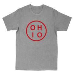 Ohio Circle Red Men's T-Shirt