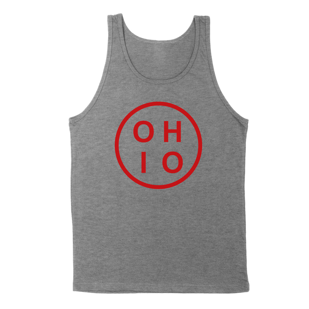 Ohio Circle Red Men's Unisex Tank - Clothe Ohio - Soft Ohio Shirts