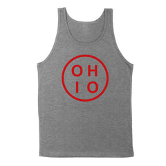 Ohio Circle Red Men's Unisex Tank