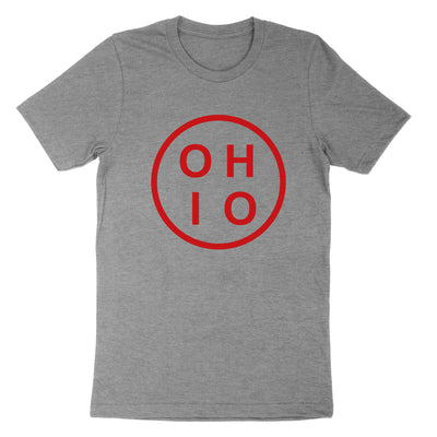 Ohio Circle Red Youth T-Shirt - Clothe Ohio - Soft Ohio Shirts
