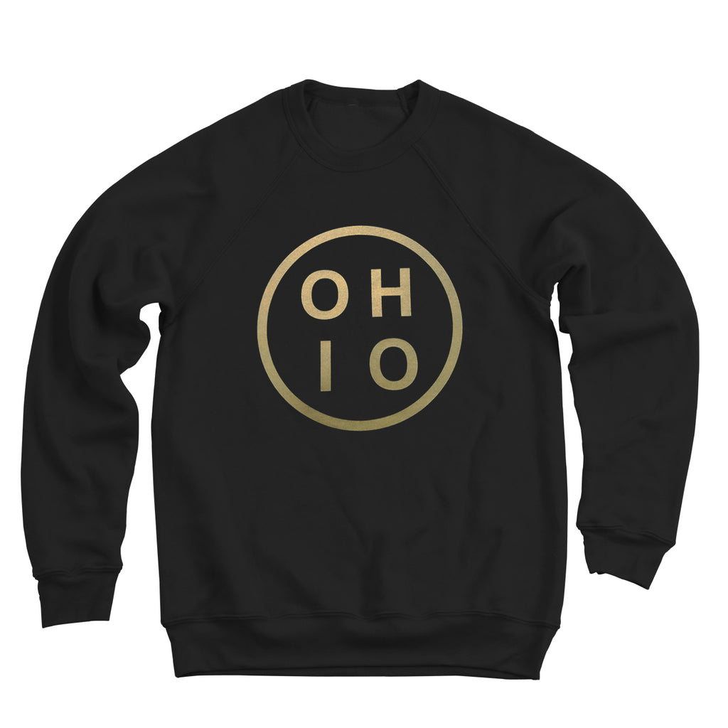 Ohio Circle Gold Men's Ultra Soft Sweatshirt - Clothe Ohio - Soft Ohio Shirts