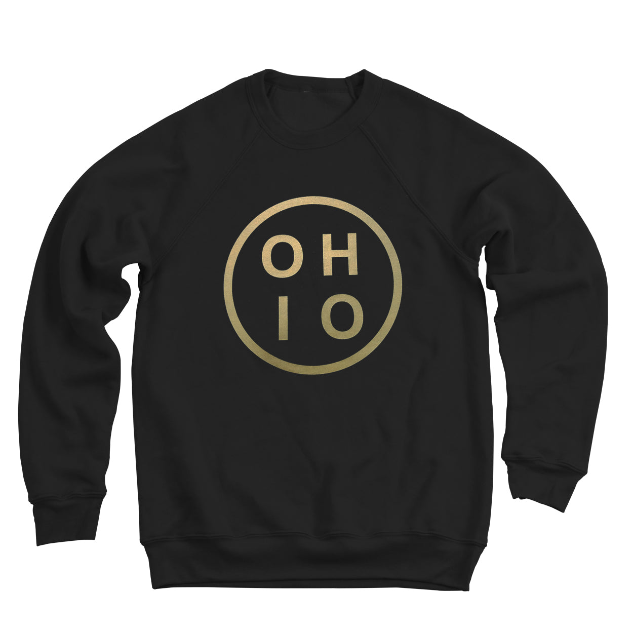 Ohio Circle Gold Ultra Soft Sweatshirt - Clothe Ohio - Soft Ohio Shirts