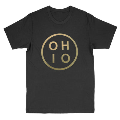 Ohio Circle Gold Men's T-Shirt - Clothe Ohio - Soft Ohio Shirts
