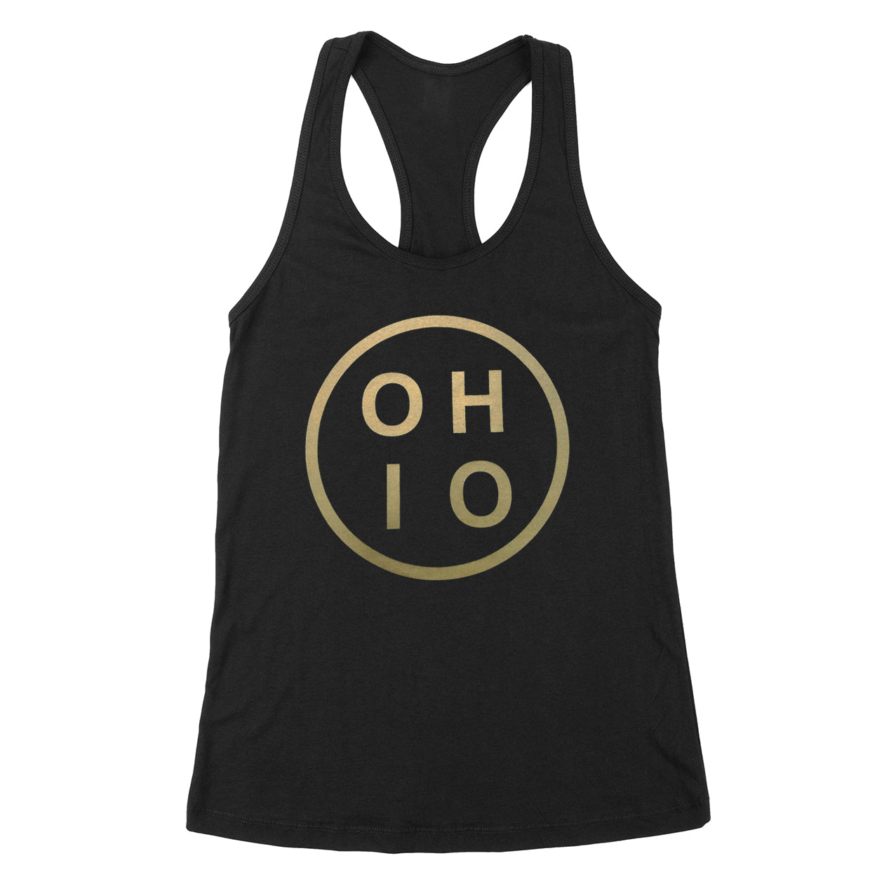 Ohio Circle Gold Women's Tank - Clothe Ohio - Soft Ohio Shirts