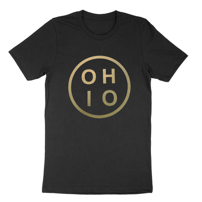Ohio Circle Gold Youth T-Shirt - Clothe Ohio - Soft Ohio Shirts