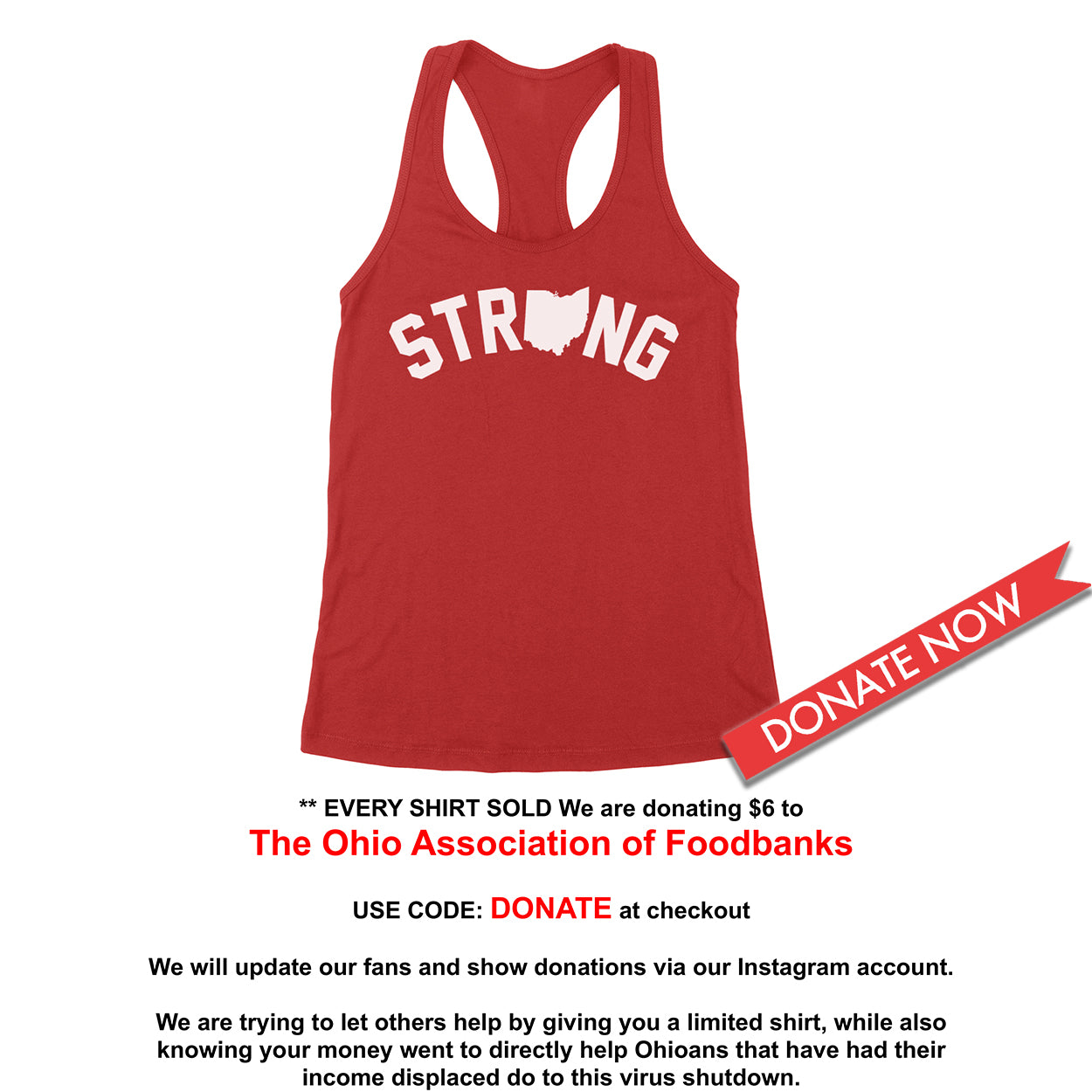 Strong Ohio Women's Tank - Clothe Ohio - Soft Ohio Shirts
