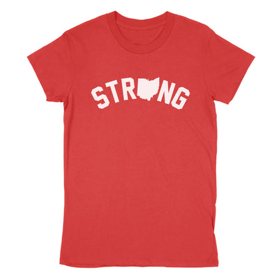 Strong Ohio Women's T-Shirt - Clothe Ohio - Soft Ohio Shirts
