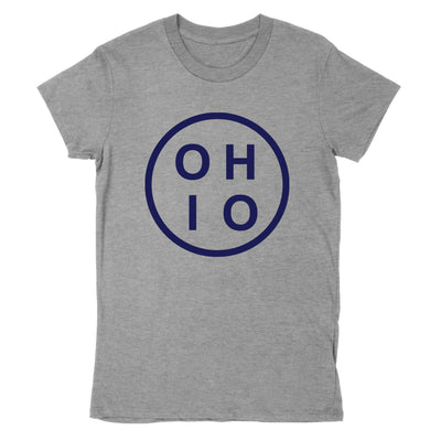 Circle Ohio Navy Women's T-Shirt