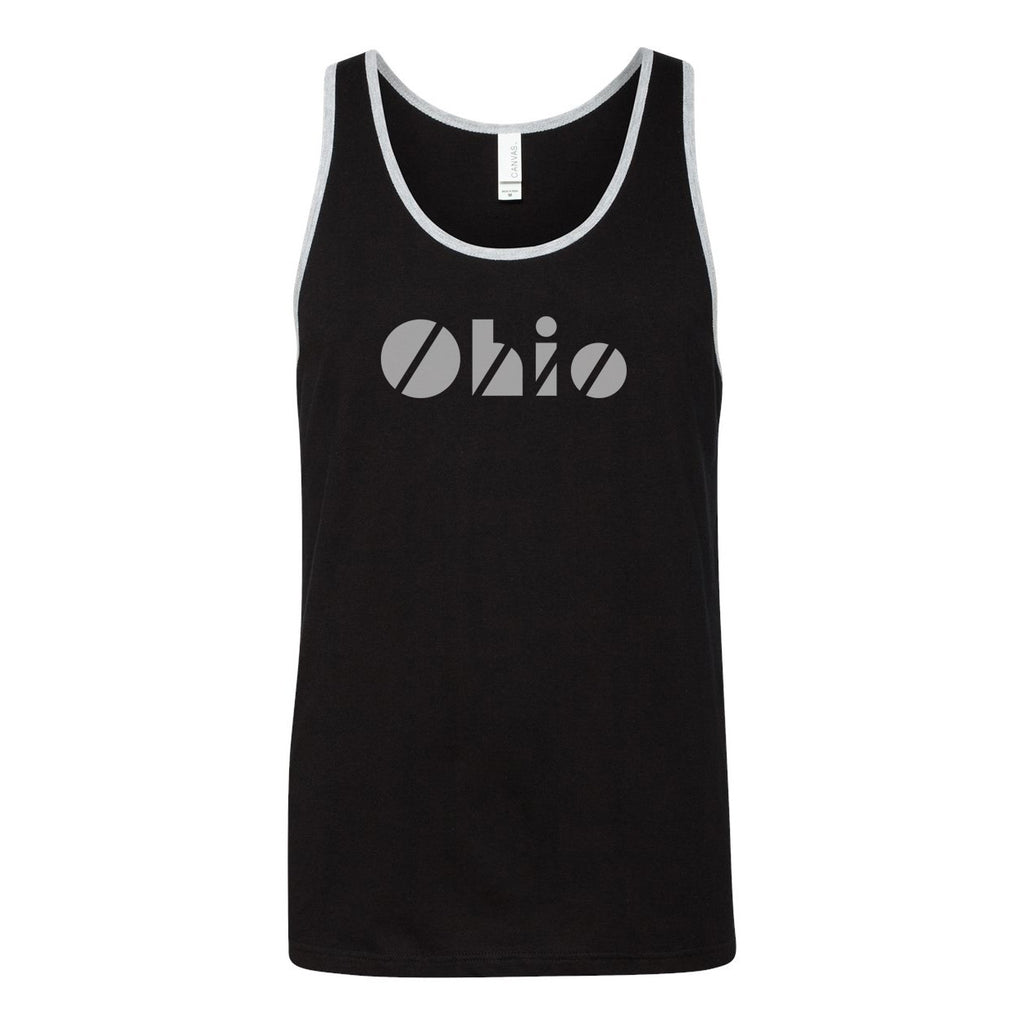 Disco Ohio Gray Tank Top - Clothe Ohio - Soft Ohio Shirts