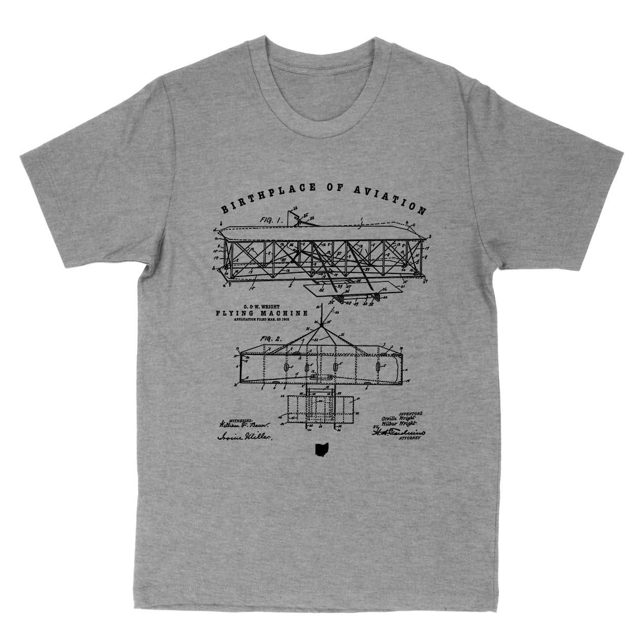 Wright Birthplace Of Aviation Men's T-Shirt - Clothe Ohio - Soft Ohio Shirts