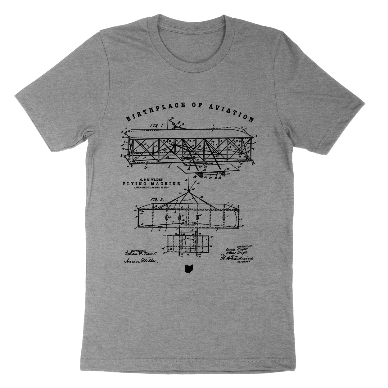 Wright Birthplace Of Aviation Youth T-Shirt - Clothe Ohio - Soft Ohio Shirts