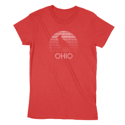 Ohio Sunset Women's T-Shirt - Clothe Ohio - Soft Ohio Shirts