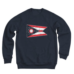 Ohio Flag Baseball Remix Men's Ultra Soft Sweatshirt