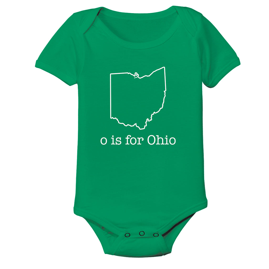 O Is For Ohio Baby One Piece - Clothe Ohio - Soft Ohio Shirts