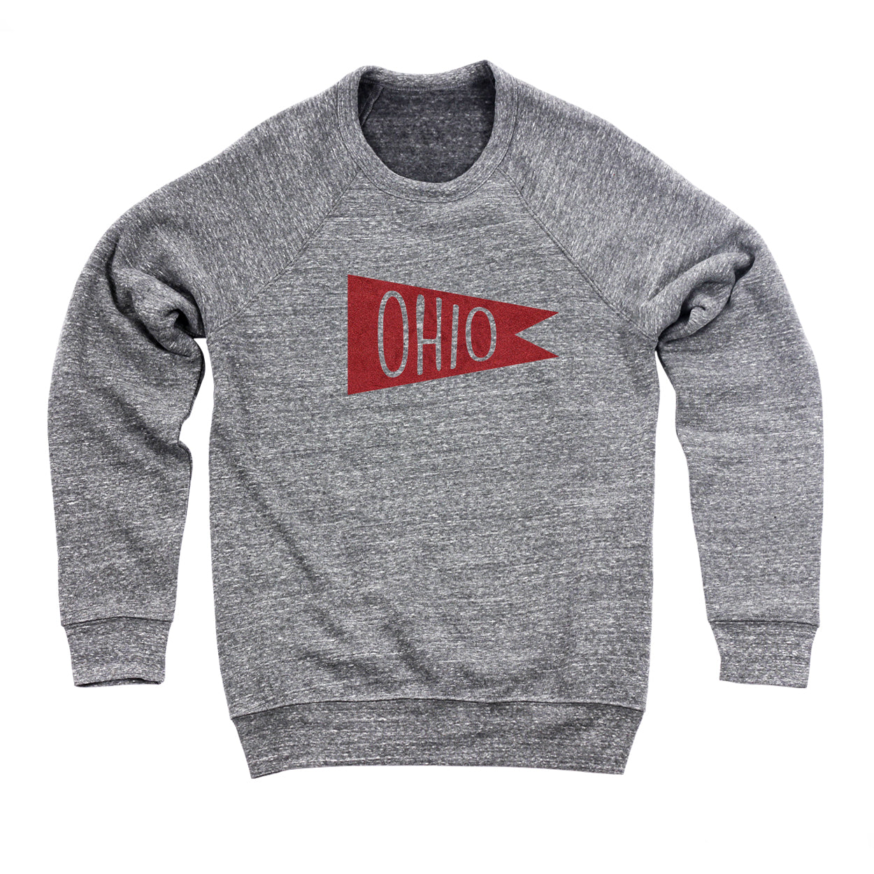Retro Red Ohio Flag Flock Ultra Soft Sweatshirt - Clothe Ohio - Soft Ohio Shirts