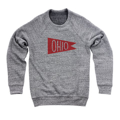 Retro Red Ohio Flag Flock Men's Ultra Soft Sweatshirt