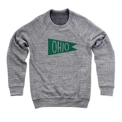 Retro Green Ohio Flag Flock Ultra Soft Sweatshirt - Clothe Ohio - Soft Ohio Shirts
