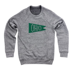 Retro Green Ohio Flag Flock Men's Ultra Soft Sweatshirt
