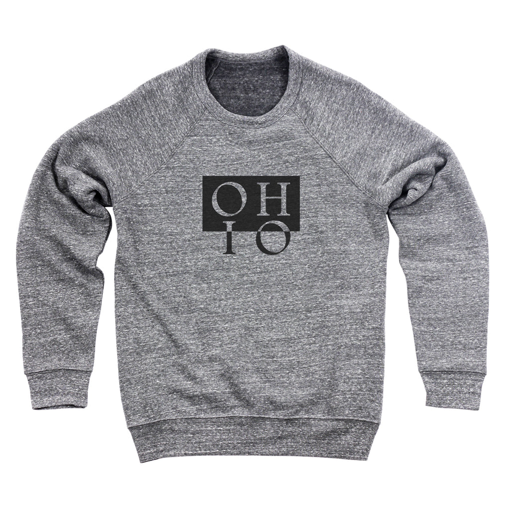 Ohio Boxed In Reverse Men's Ultra Soft Sweatshirt - Clothe Ohio - Soft Ohio Shirts
