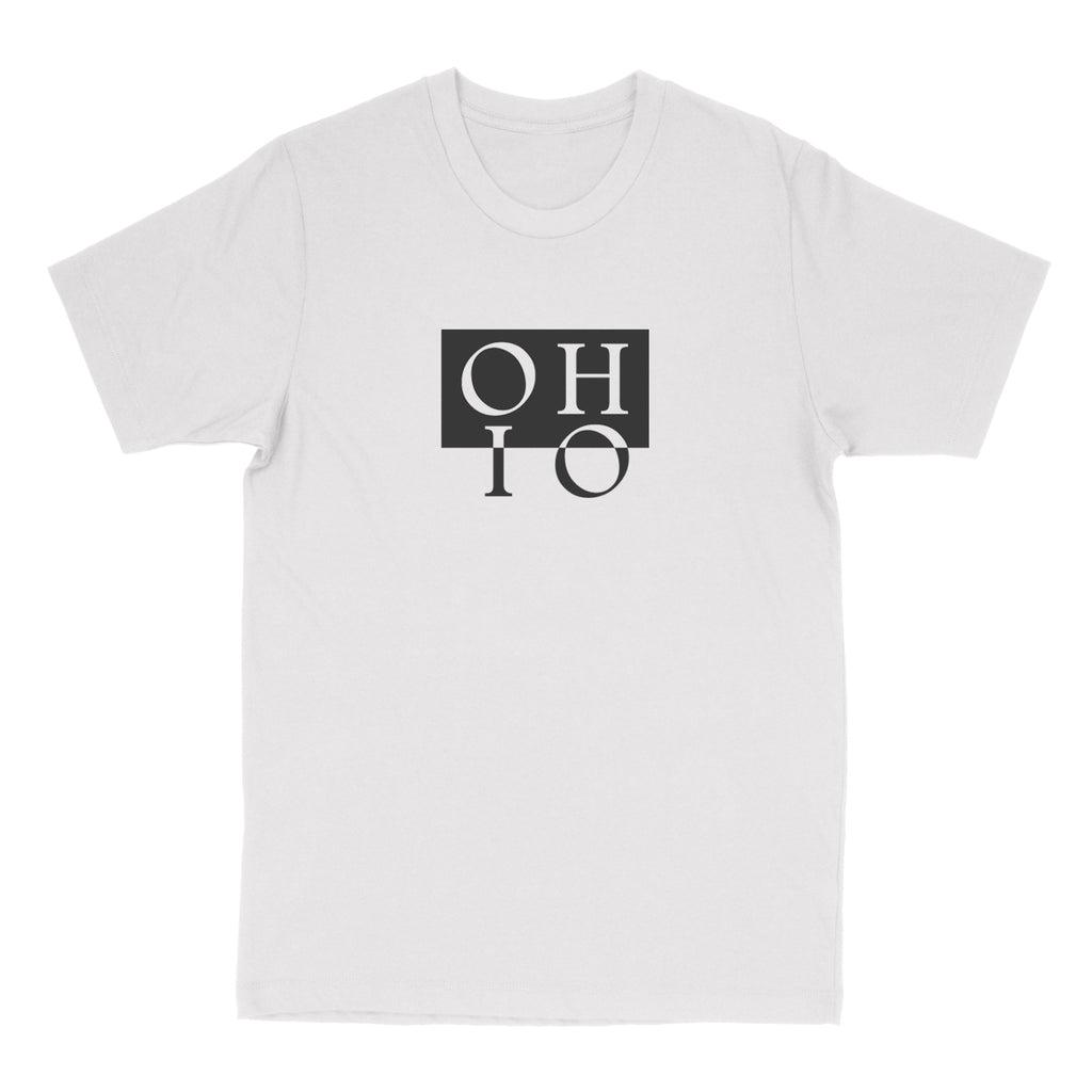 Ohio Boxed In Reverse Men's T-Shirt - Clothe Ohio - Soft Ohio Shirts